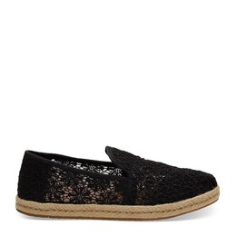 TOMS Deconstructed Alpargata Rope Floral Lace