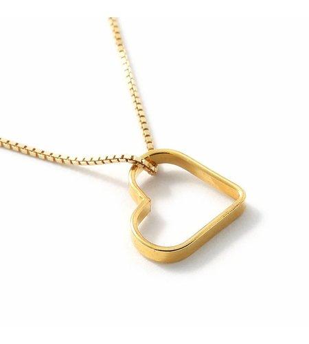 SeeMe Small Heart Short Venetian Chain Gold