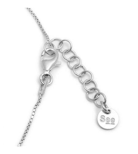 SeeMe Small Heart Short Venetian Chain Silver