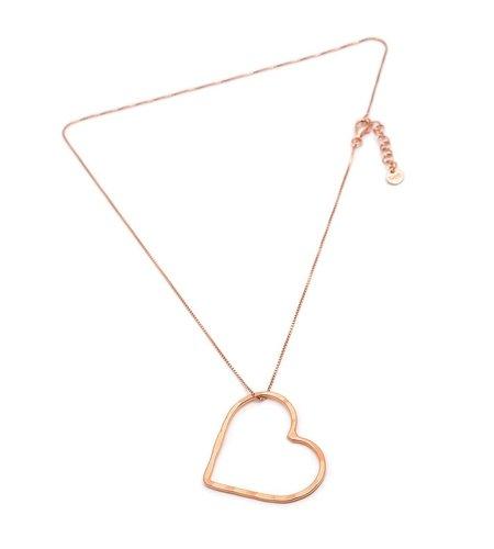 SeeMe Medium Heart Short Venetian Chain Rose