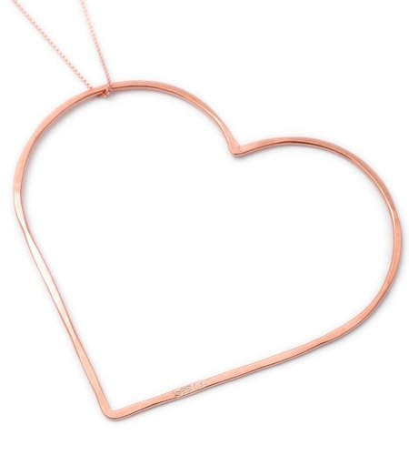 SeeMe Big Heart Long Venetian Chain Rose