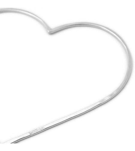 SeeMe Big Heart Long Venetian Chain Silver