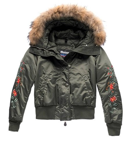 Blauer Bomber With Hood Olivia Green Oil