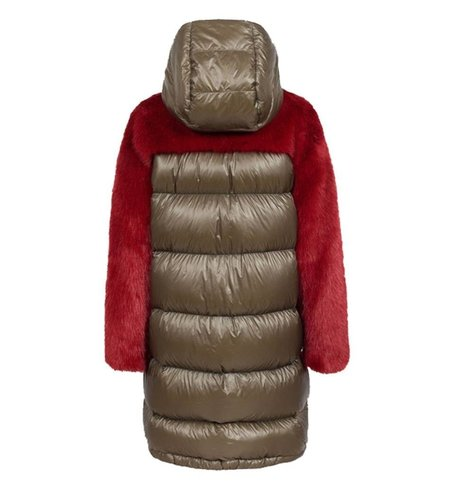 Colmar Long Down Jacket With Faux Fur