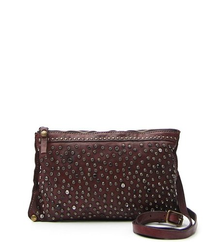 Campomaggi Pouch with studs in cognac leather