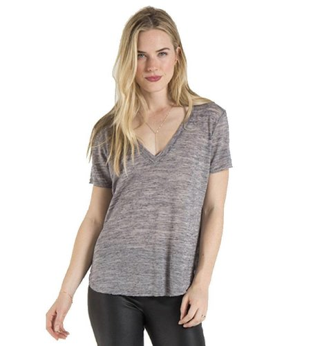 Bella Dahl V-neck Tee Melange Grey