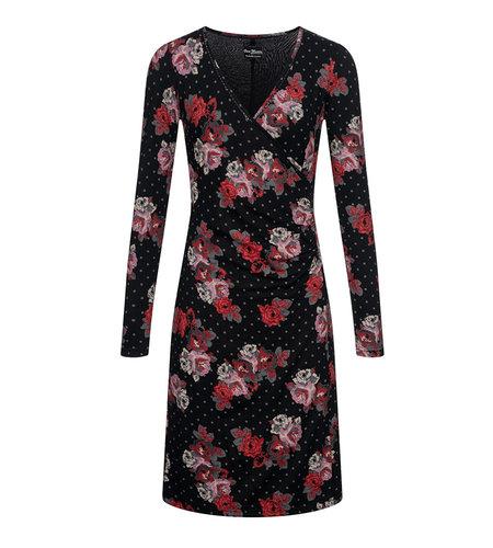 Vive Maria Flowerdots Wrapdress Black Allover