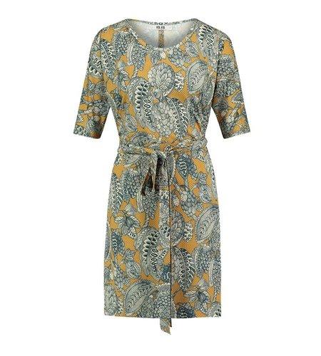 IEZ! Dress Several Prints Dark Yellow Dark Blue
