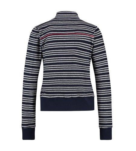IEZ! Jacket Terry Stripe Dark Blue Light Grey