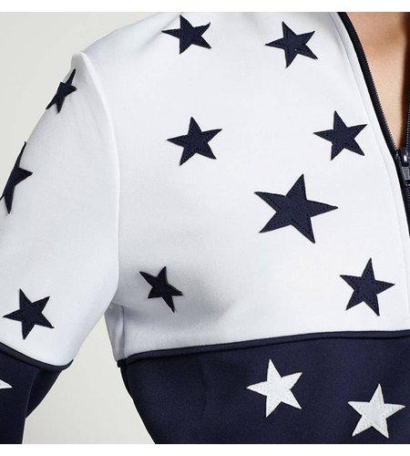 Zoe Karssen Stars All Over Sweater Optical White Mood Indigo