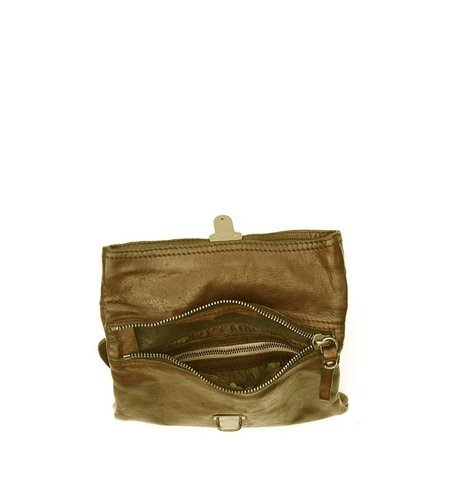 Campomaggi cross-body bag in leather 'Geranio'