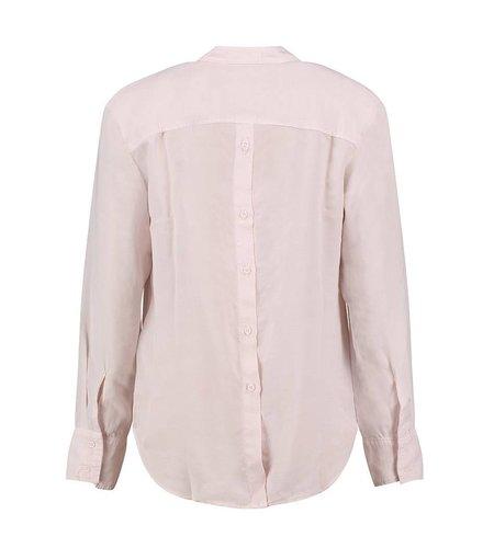 Bella Dahl Slouchy Button Back Shirt Sheer Rose