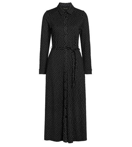 King Louie Olive Midi Dress Little Dots Black