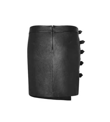 Zoe Karssen Buckles Mini Skirt Moonless Night