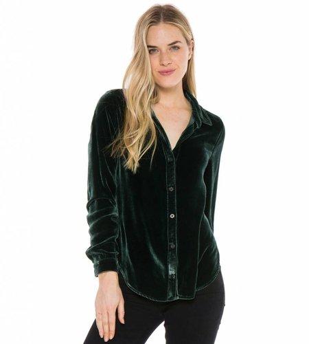 Bella Dahl Longsleeve Button Down Dark Green