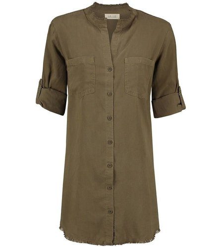 Bella Dahl Western Yoke Shirt Dress Burnt Olive