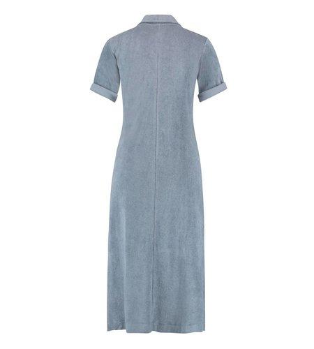 IEZ! Dress Polo Short Sleeves Terry Grey Blue