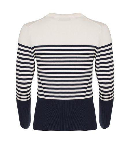 Le Pep Top Amy Navy Stripe