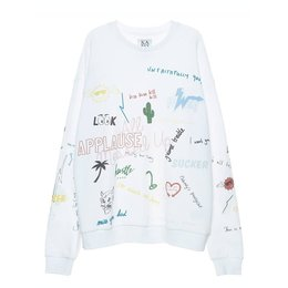 Zoe Karssen Scribble All Over Sweater