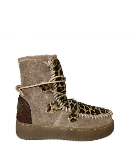 Karma of Charme Medium Ymiz Boot Taupe Leopard