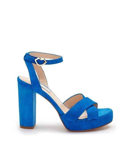 Fabienne Chapot Nolita Pump Suede Oasis Blue Suede