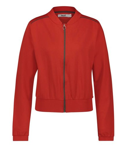 IEZ! Jacket Bomber French Knit Red