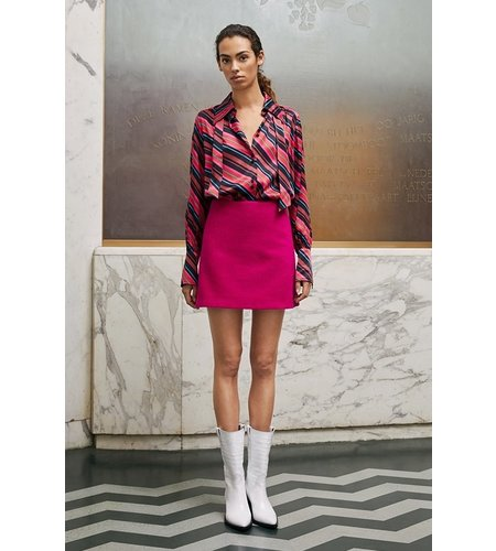Fabienne Chapot Paris Stripe Blouse Freaking fuchsia