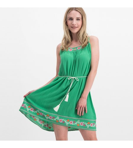 Blutsgeschwister Summer In The City Dress Smaragd Crepe