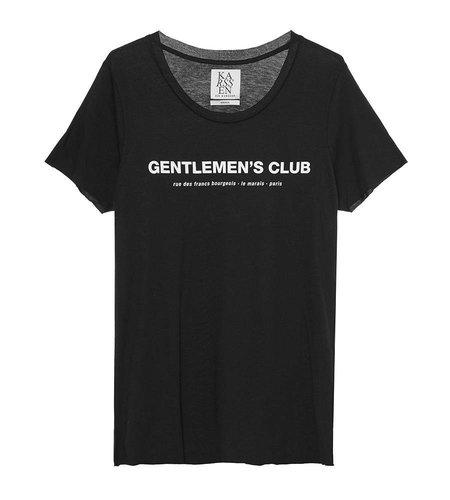 Zoe Karssen Gentlemens Club Loose Fit T-Shirt Moonless Knight