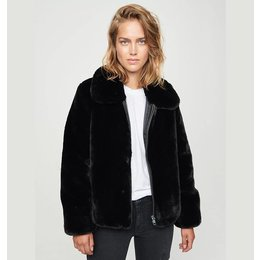 Zoe Karssen Straps Faux Fur Jacket