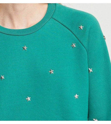 Zoe Karssen Star Studs All Over Sweat Antique Green