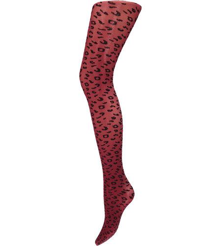 Sarlini Fantasy Thights 40 Den Leopard Bordeaux