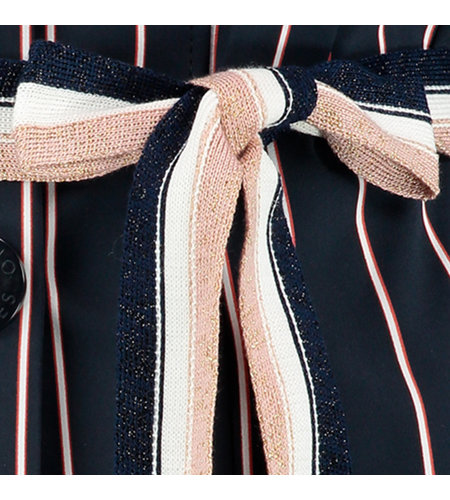 Studio Anneloes Tesk Stripe Blazer Dark Blue/Off White