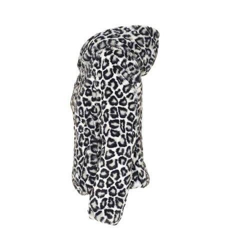 Save the Duck Giubotto Rury 5 Micro Leopard Black & White 983