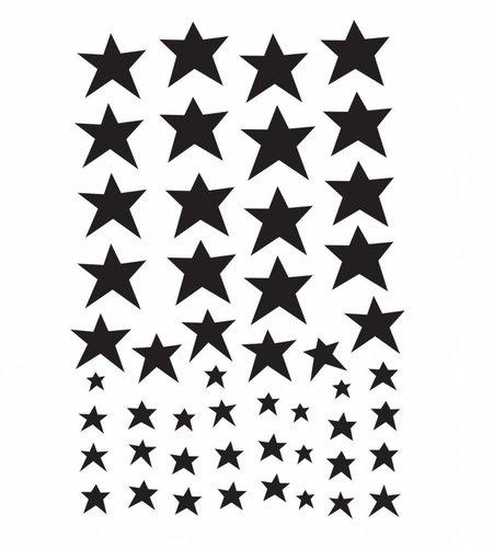 A Little Lovely Company Wall Sticker Black Stars