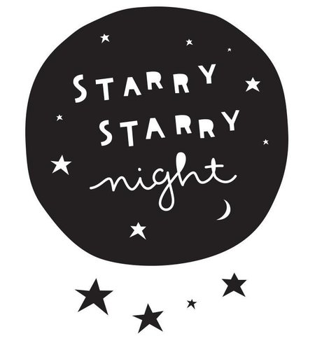 A Little Lovely Company Wall Sticker Starry Night