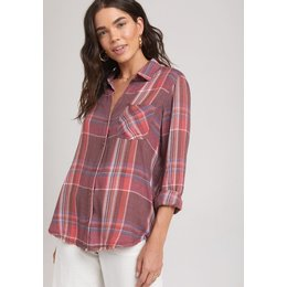 Bella Dahl Fray Hem Button Down Sassafras