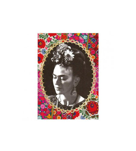 Kitsch Kitchen Notebook A5 Frida Kahlo Zwart