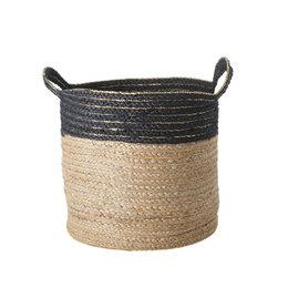 RICE Small Round Jute Storage Basket