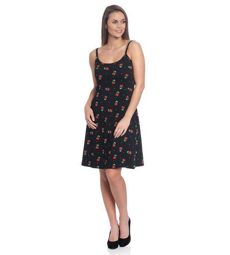 Pussy DeLuxe Sweet Cherry Dress Black Allover