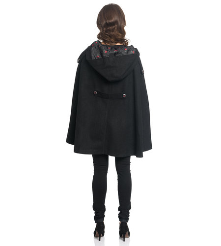 Pussy DeLuxe Sweet Cherry Girl Cape Black