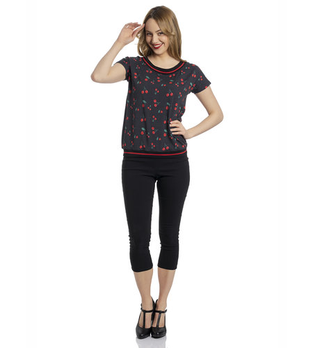 Pussy DeLuxe Cherry Dots Shirt Black Allover
