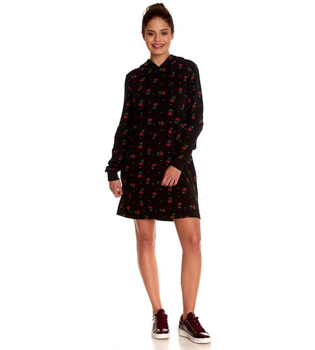 Pussy DeLuxe Cherry Bomb Sweatdress Black/Allover