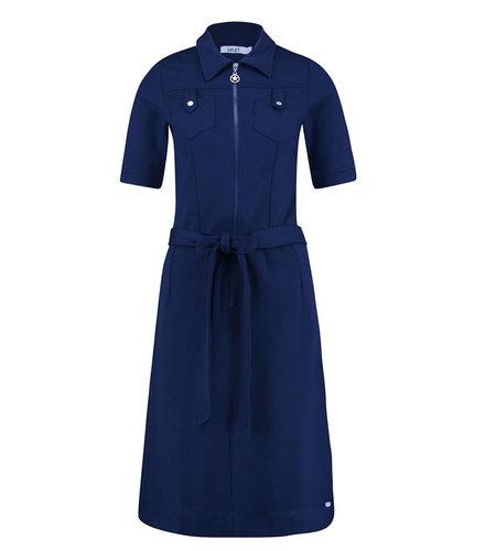 IEZ! Dress Pockets Thick Knit Blue