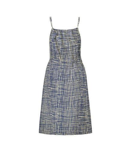 IEZ! Dress Singlet Stripe Jersey Print Blue