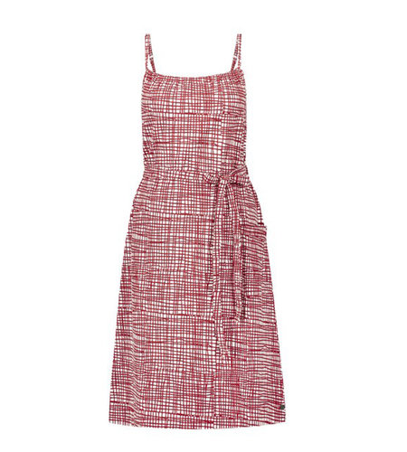 IEZ! Dress Singlet Stripe Jersey Print Red