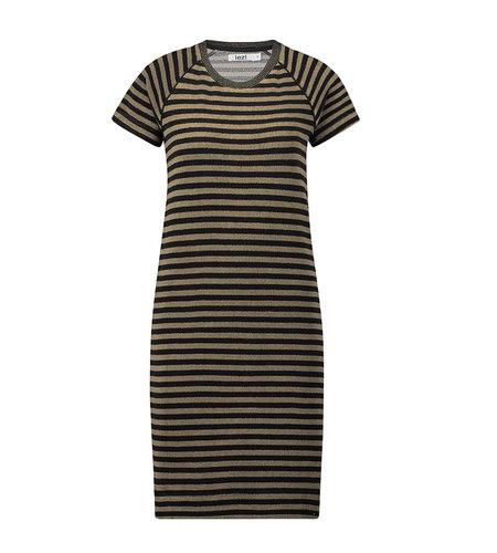 IEZ! Dress Terry Stripe Brown Black