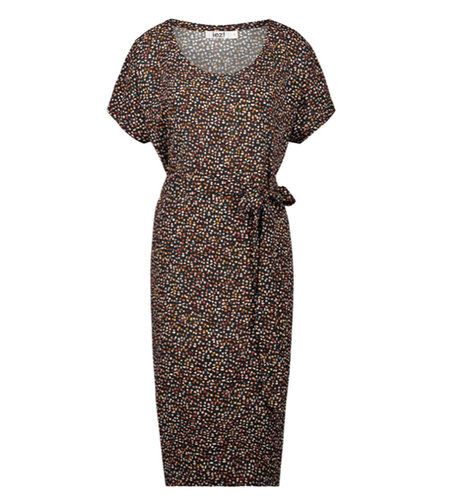 IEZ! Dress Tunic Long Woven Black Dot