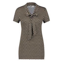 IEZ! Shirt Bow Jersey Print