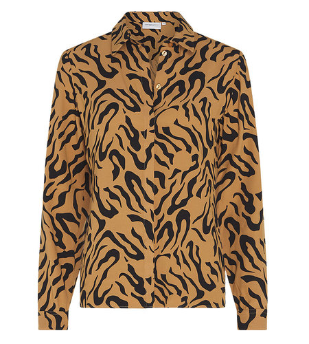 Fabienne Chapot Perfect Blouse Toffee Brown Black